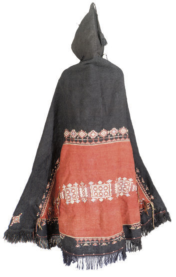 A FINE AKNIF 'RED EYE' CLOAK,