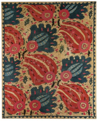AN EMBROIDERED HANGING, OTTOMA