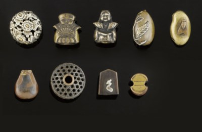 A Collection of nine ojime, 19