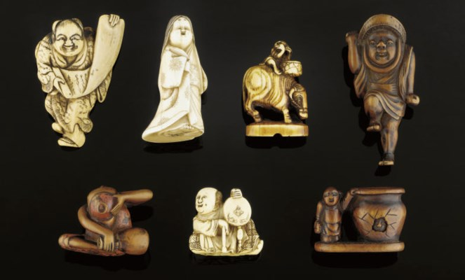 A group of fifteen wood and iv