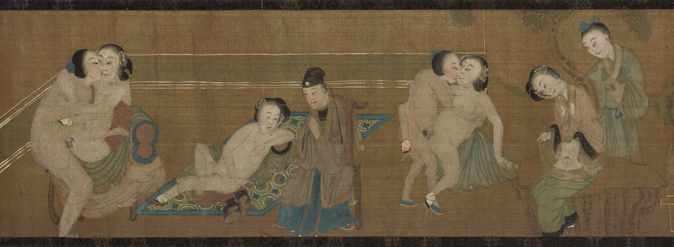 An erotic hand scroll, 18th ce