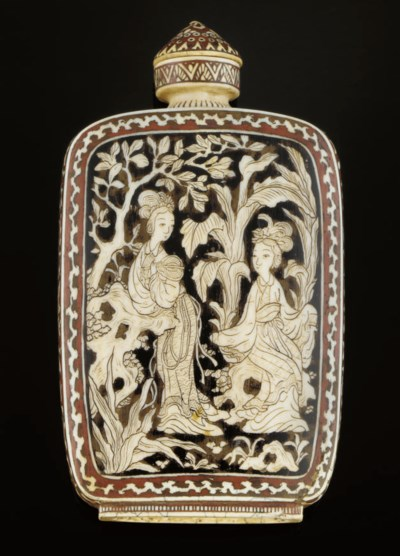 An ivory snuff bottle, late 19