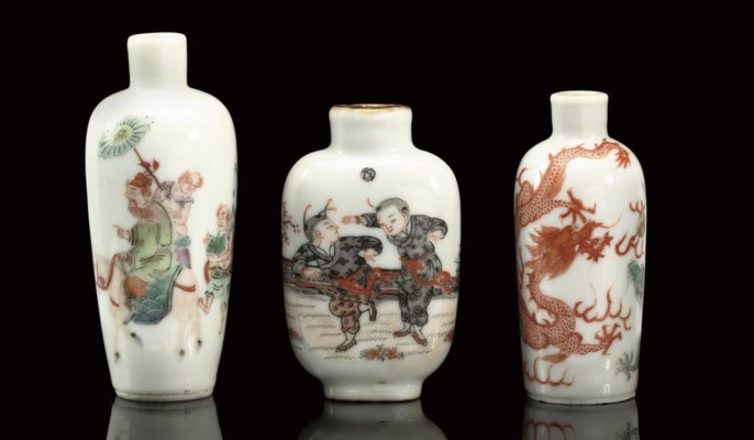 A group of three porcelain snu