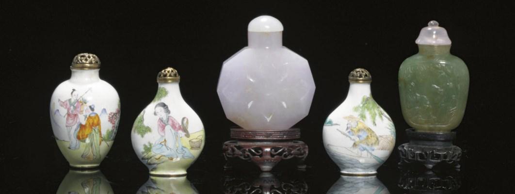 A lavender jade snuff bottle a