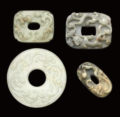 Four jade carvings, 17th Centu