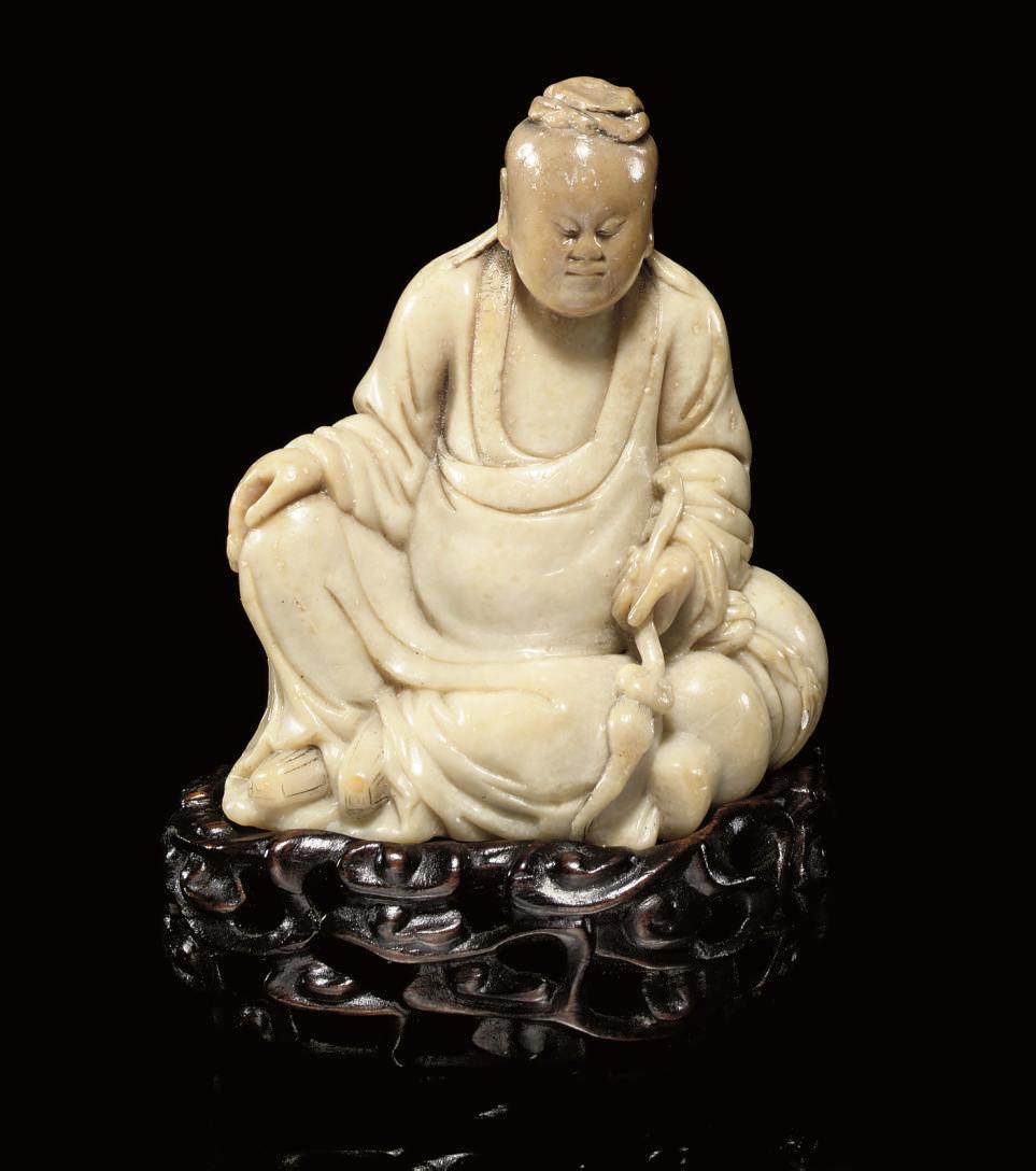 A Soapstone model of a sage, 1