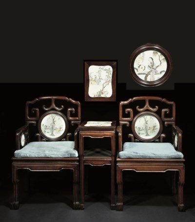 A Pair of reception chairs and