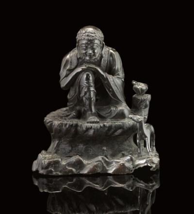 A bronze model of an Immortal,