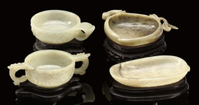 A group of four Chinese jades,
