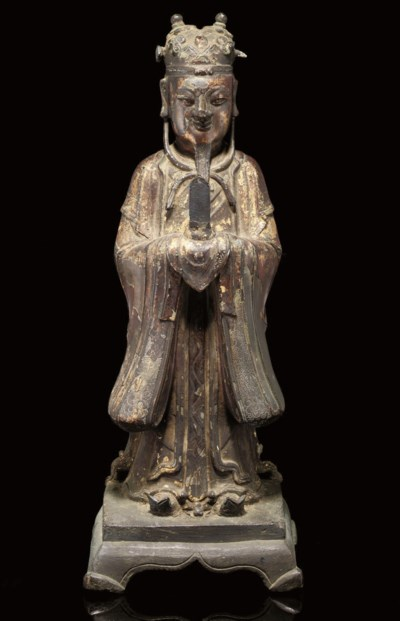 A bronze gilt lacquered model