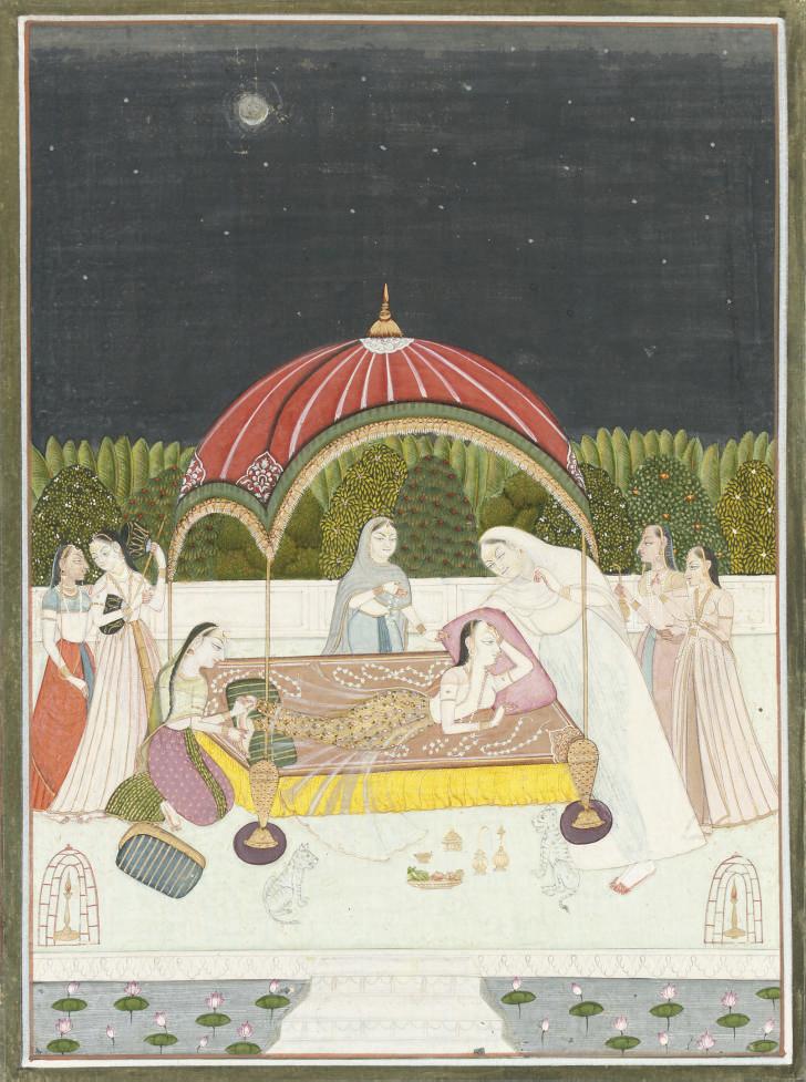 LADY IN A FLOWER BED, KISHANGA