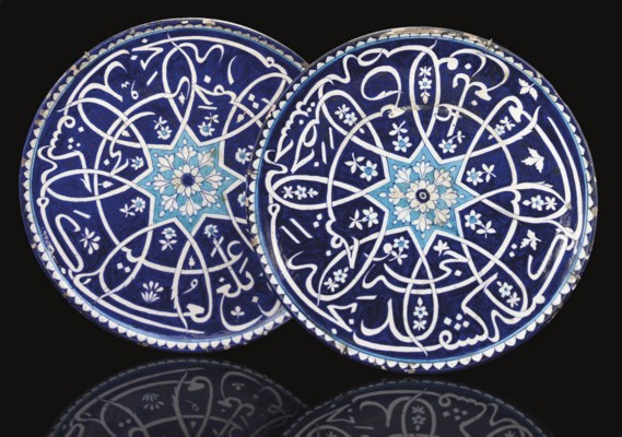 A PAIR OF LARGE CALLIGRAPHIC D