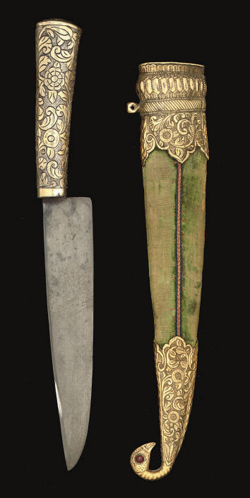 A KUTCH DAGGER WITH ASSOCIATED