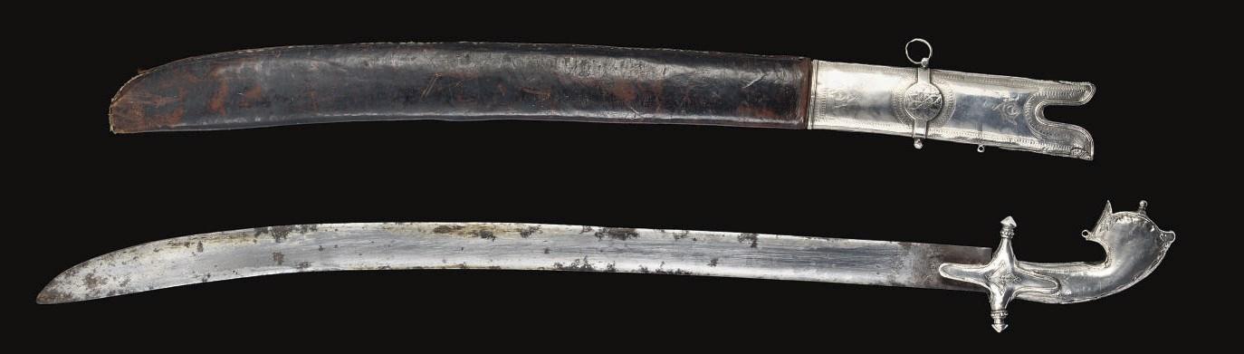 A SILVER MOUNTED SWORD, OMAN,