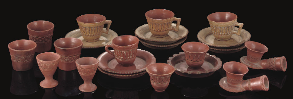 A GROUP OF TOPHANE PIPES, EGGC