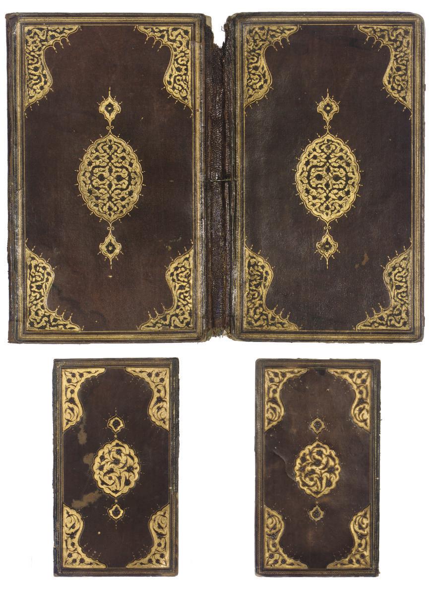 A PAIR OF OTTOMAN BOOK BINDING