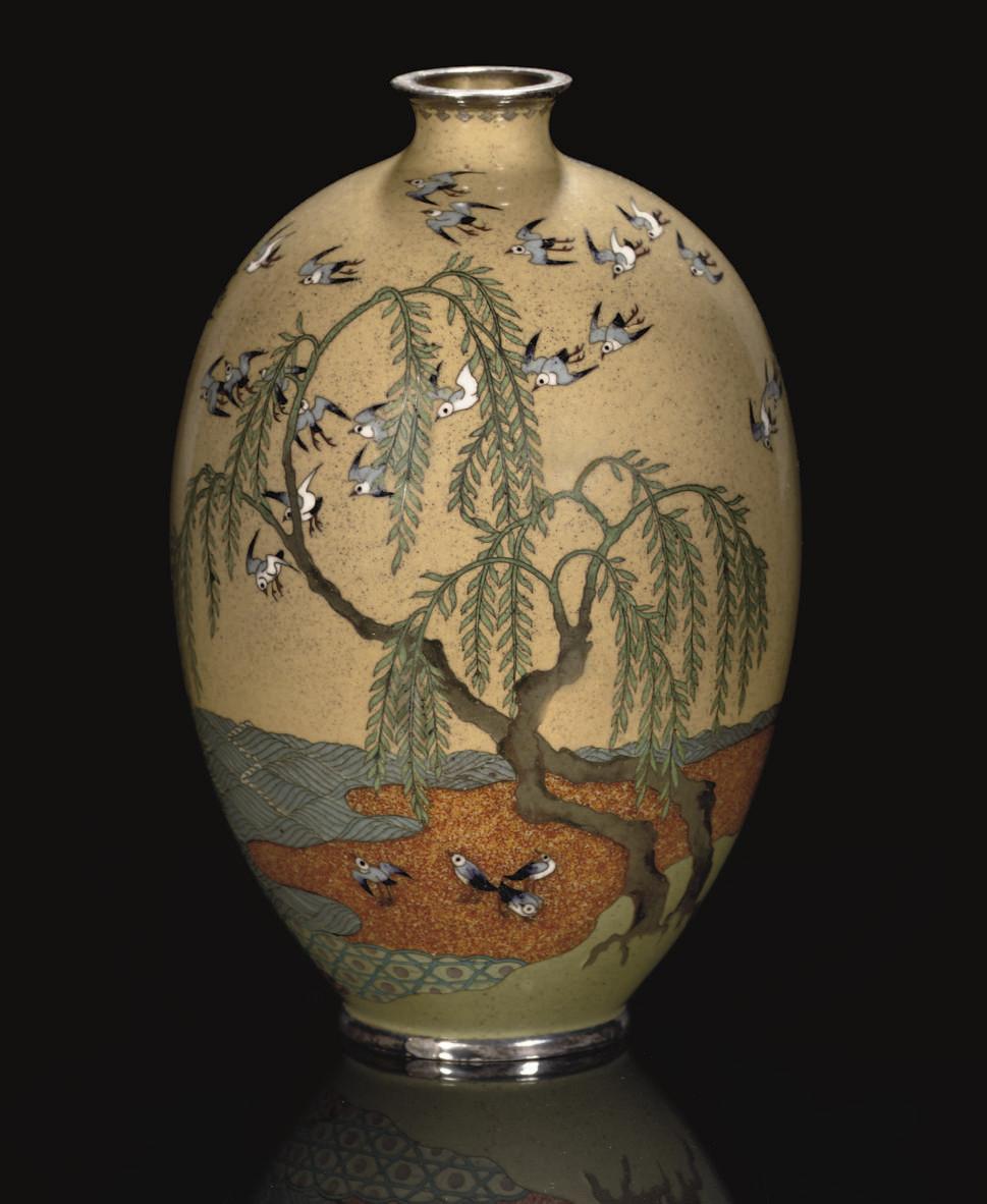 A Cloisonne Vase, Meiji Period