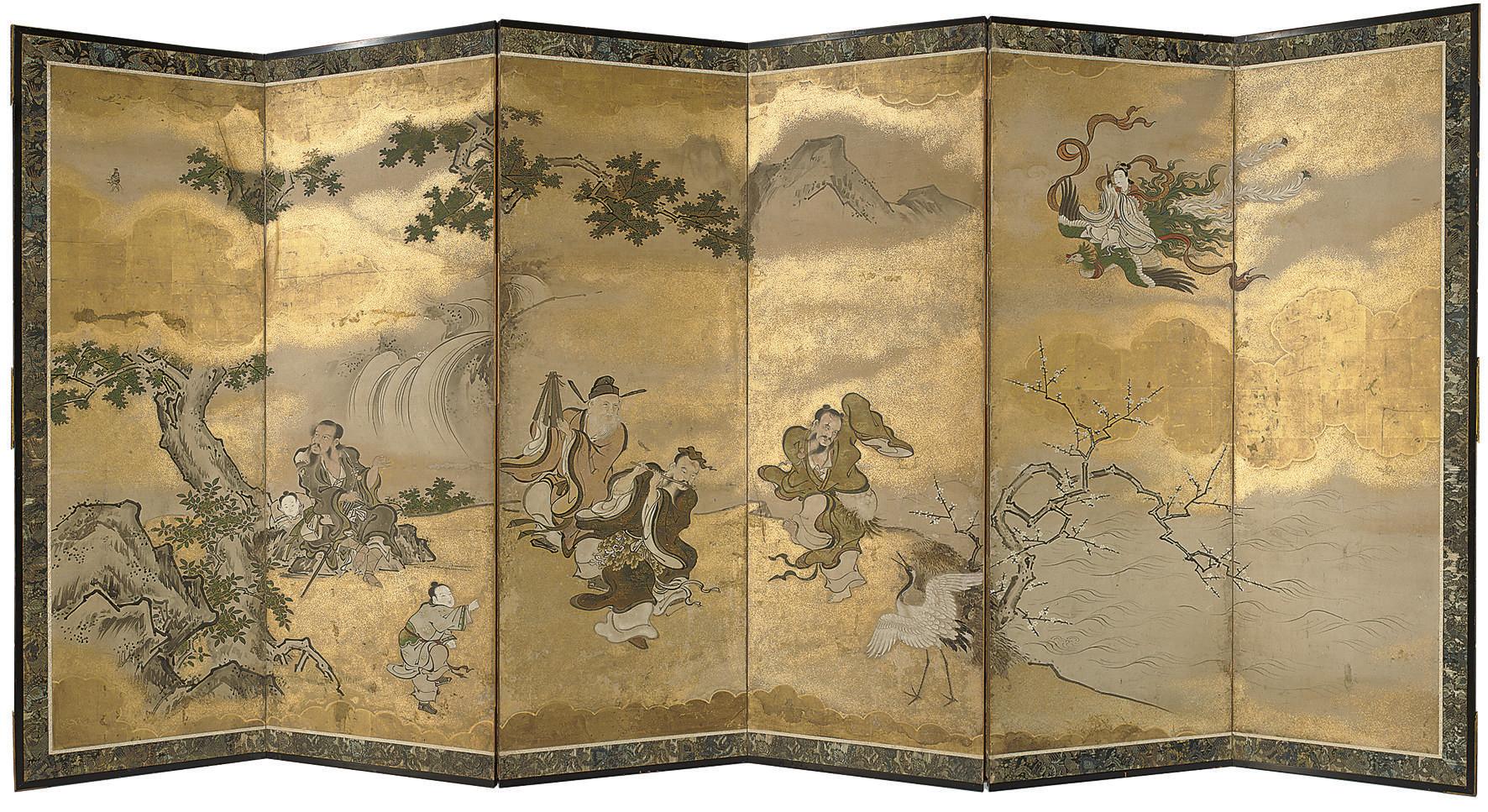 A six fold screen, 19th centur
