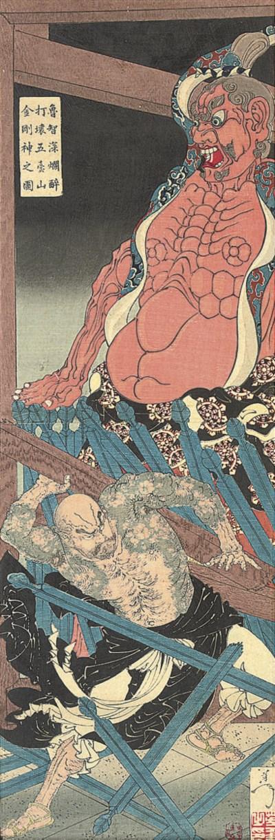 YOSHITOSHI (1839-92), kakemono