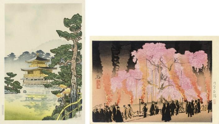 Twenty-one Shin Hanga prints,