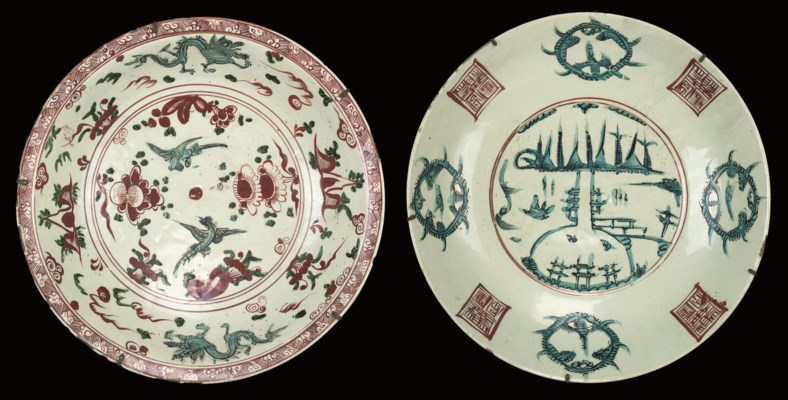 TWO SWATOW BOWLS, 16TH/17TH CE