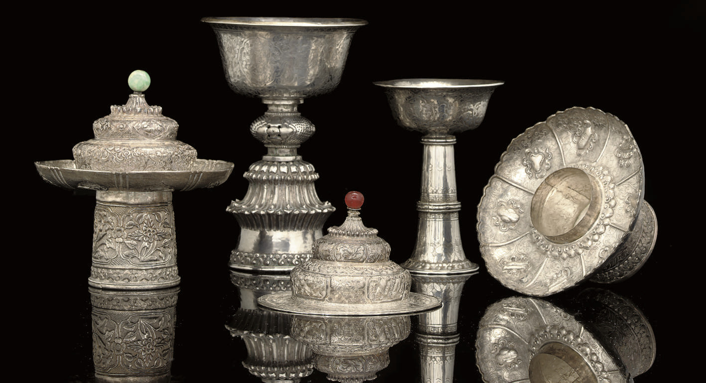 A SMALL GROUP OF SILVER VESSEL