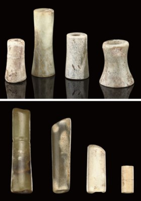 A GROUP OF EIGHT CYLINDRICAL A