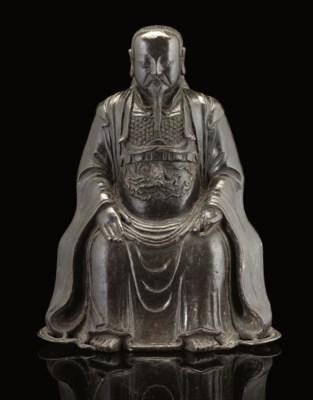 A bronze model of Zhenwu, 17th