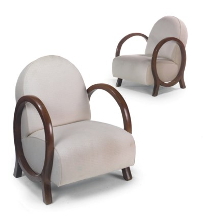 A PAIR OF BEECH BENTWOOD AND U