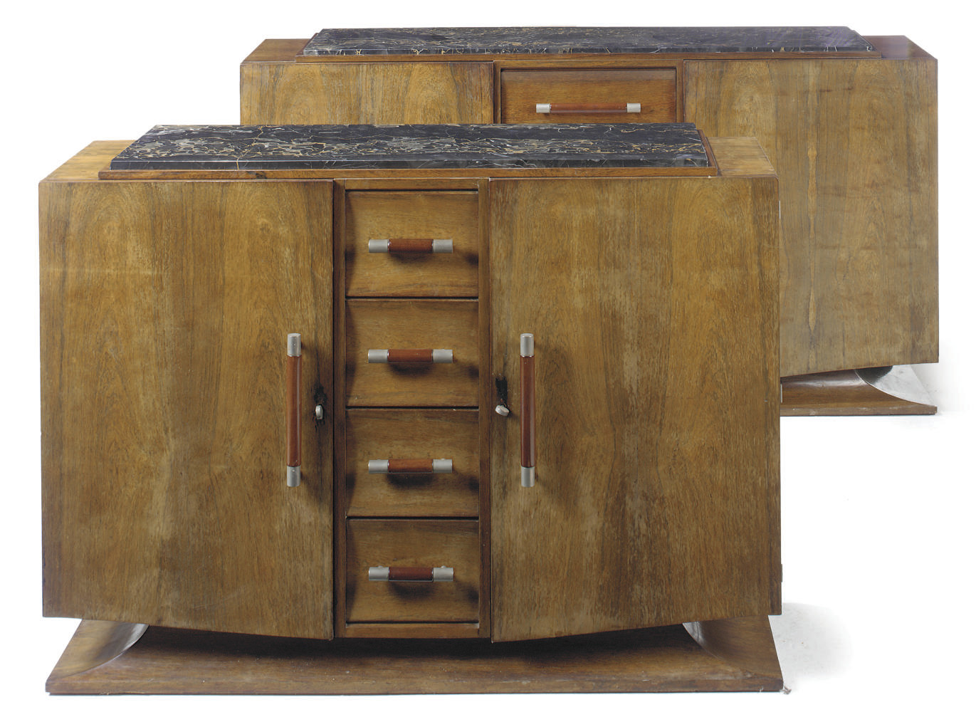AN ART DECO MAHOGANY SIDEBOARD