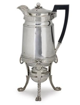 A GEORGE III COFFEE OR HOT WAT
