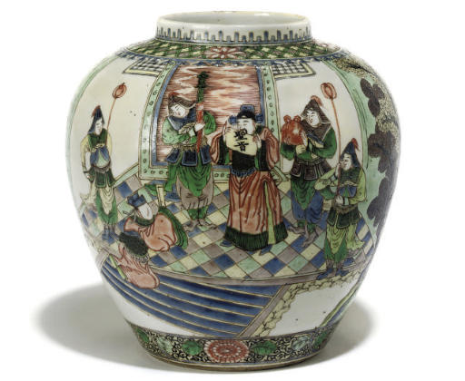 A Chinese famille verte jar