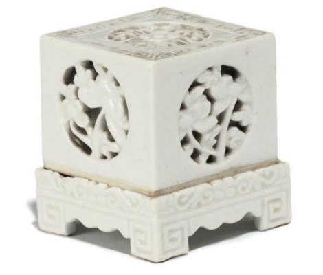 A Chinese white-glazed blanc-d