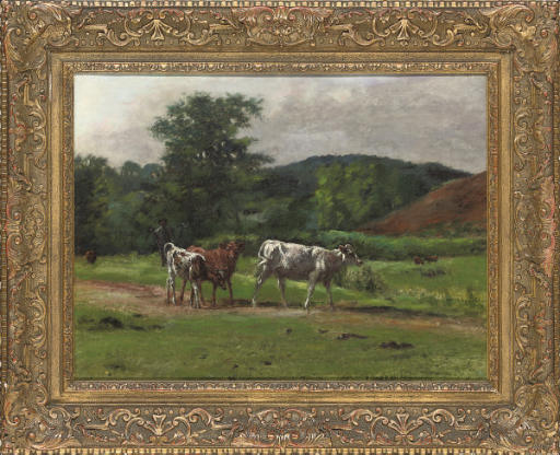 Cattle on a path