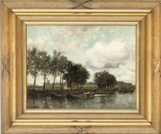 Boats on the canal, Muiden