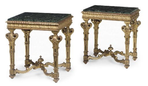 A PAIR OF GILTWOOD CENTRE TABL