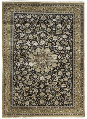 A very fine silk Qum carpet