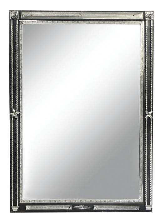 A POLISHED STEEL MOUNTED PIER