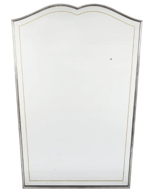 A SILVERED METAL MIRROR