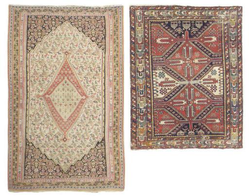 An antique Senneh rug & Shirva