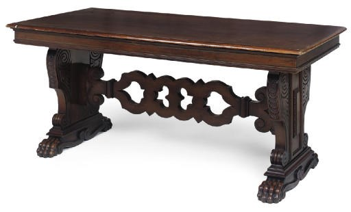 AN ITALIAN OAK CENTRE TABLE