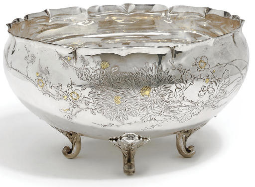 A Japanese Silver bowl