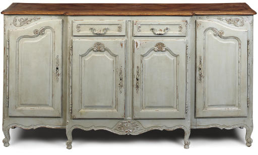 A FRENCH PART PAINTED OAK BREA
