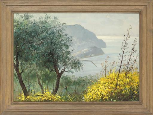 A Mediterranean coastal view; and Three similar