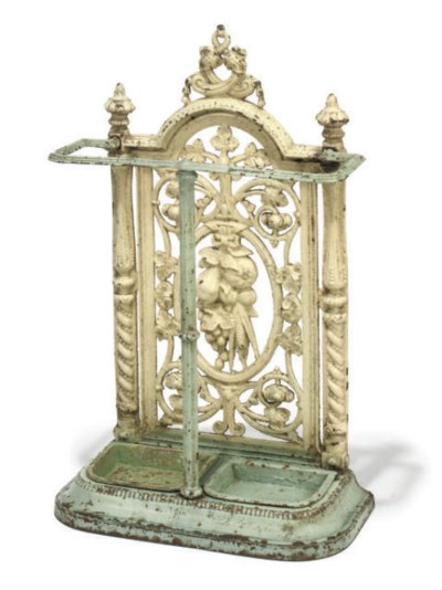 A VICTORIAN PAINTED CAST-IRON