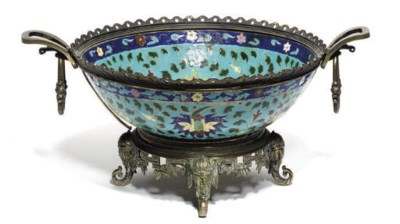A Chinese enamelled pottery bo