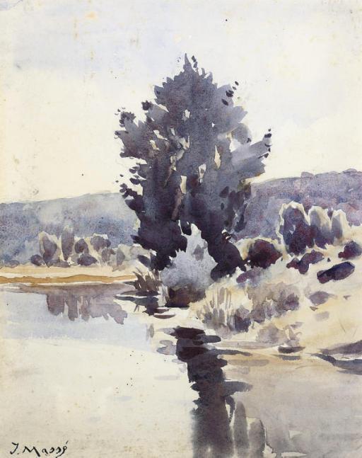 A calm stretch of the river