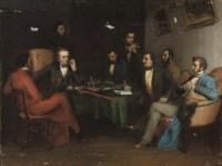 At the gentlemen's club