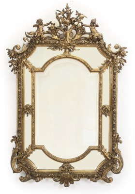 A VICTORIAN GILTWOOD AND GESSO