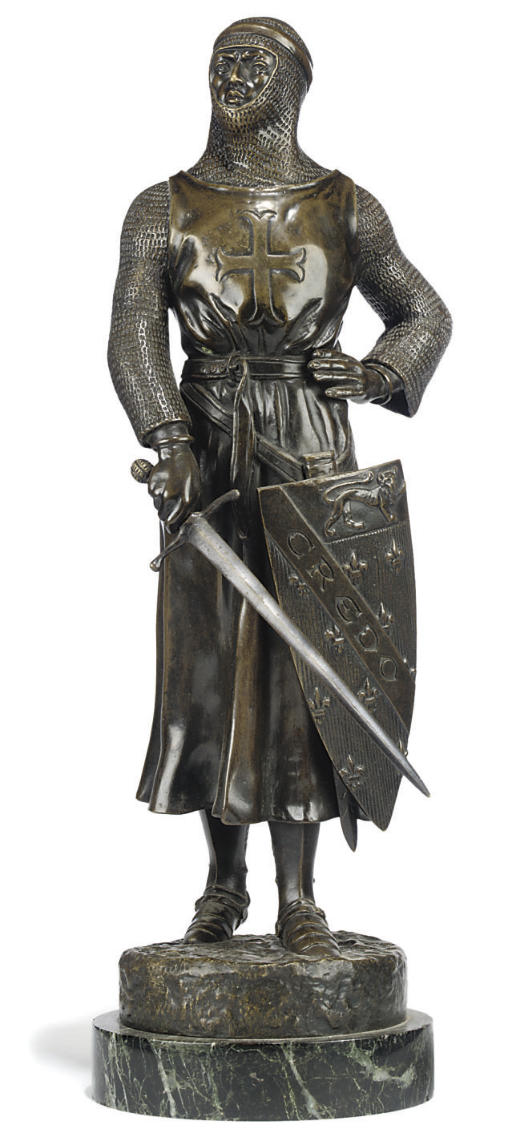 A FRENCH BRONZE FIGURE OF CRED